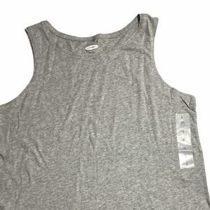 Old Navy Everywear Simple Tank Top Shirt Grey NWT